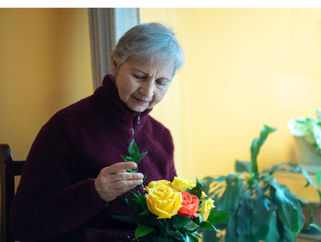 Flower arranging stimulating activity