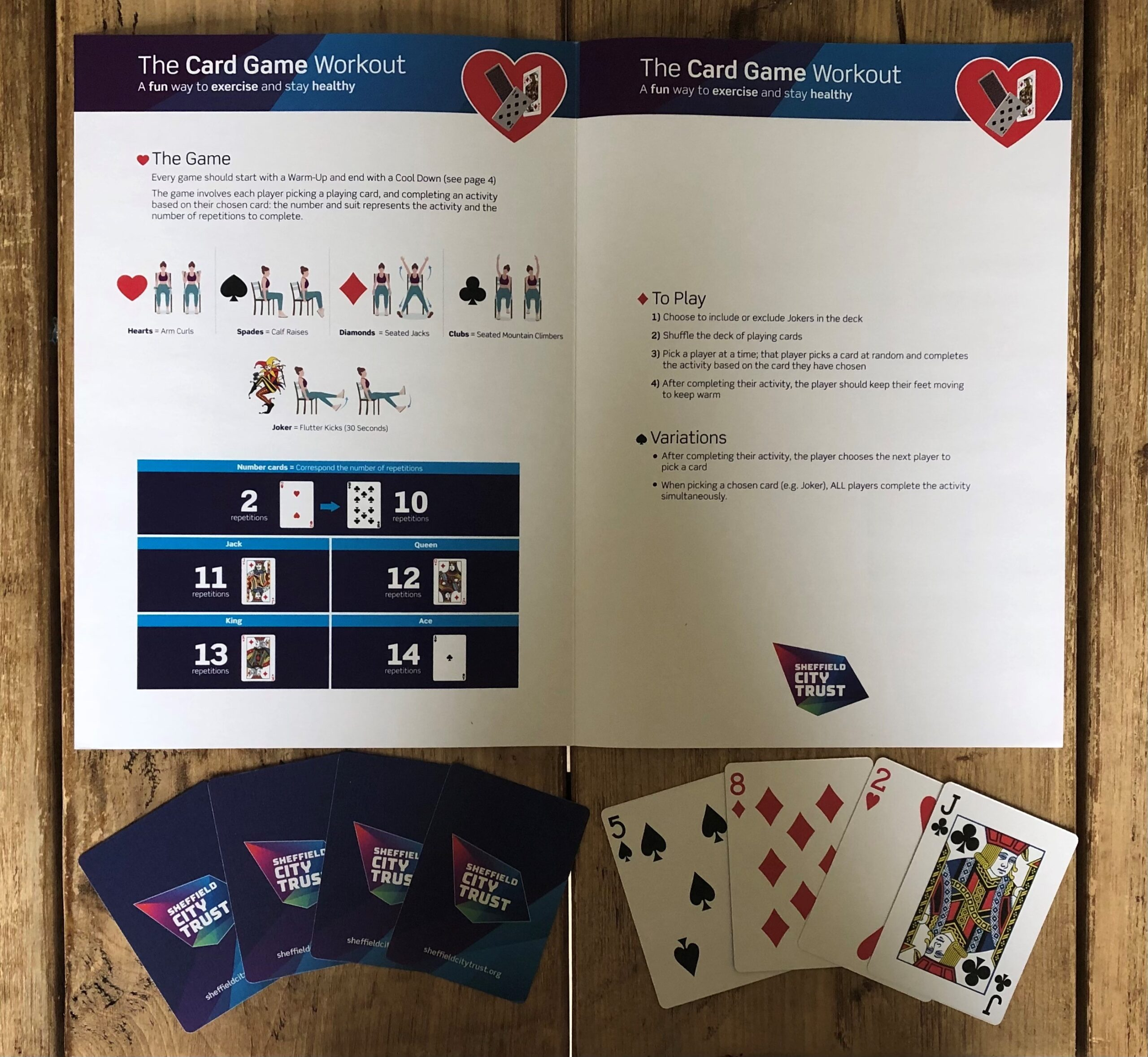 The card game instructions